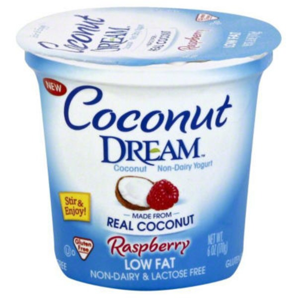 Coconut Dream Coconut Non-Dairy Yogurt Low Fat Raspberry