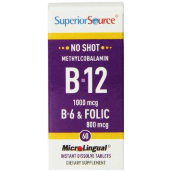 Superior Source Methylcobalamin B 12 1000 Mcg B 6 & Folic 800 Mcg