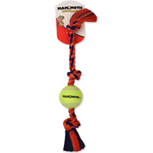 Mammoth Flossy Chews Medium Tug Rope with Ball