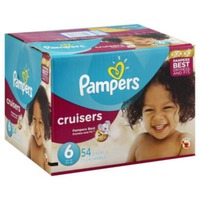 Pampers Premium Pampers Cruisers Diapers Size 6 54 count  Diapers