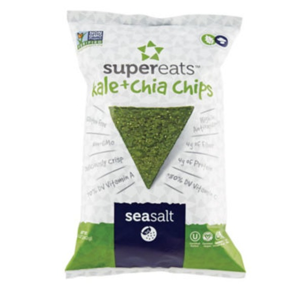 Supereats Chips, Kale & Chia, Sea Salt