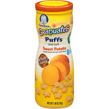 Gerber Graduates Finger Foods Sweet Potato Puffs