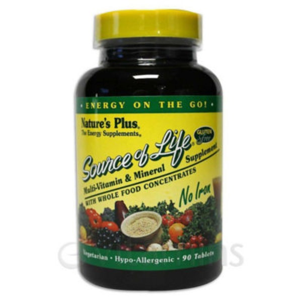 Nature's Plus Source Of Life Multi-Vitamin & Mineral Tablets