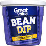 Great Value Original Flavor Bean Dip