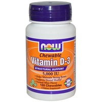 Now D3 5000 IU Chewable Vitamins