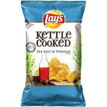 Lays Kettle Cooked Sea Salt & Vinegar Extra Crunchy Potato Chips