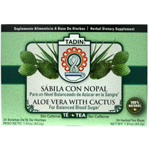 Tadin Aloe Vera with Cactus Herbal Tea Bags