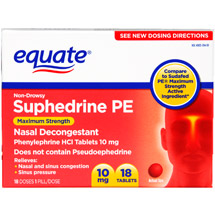 Equate Non-Drowsy Suphedrine PE