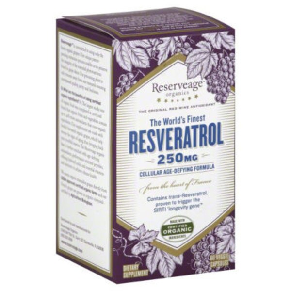 Reserveage Nutrition Resveratrol 250mg Capsules