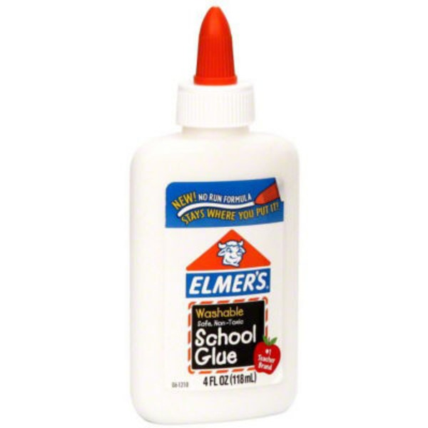 Elmer's School Glue Washable, No Run