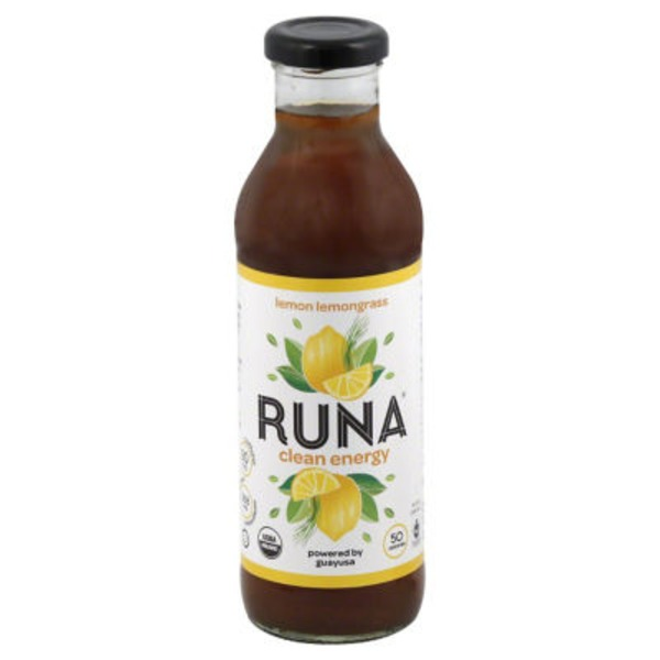 Runa Clean Energy Drink, Lemon Lemongrass