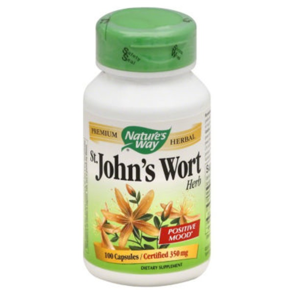 Nature's Way St. John's Wort Herb 350mg Capsules - 100 CT