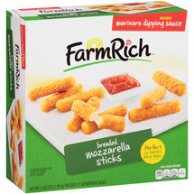 Farm Rich Breaded Mozzarella Sticks & Marinara Dipping Sauce