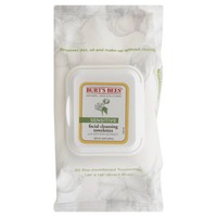 Burt's Bees Facial Cleansing Towelettes With Cotton Extract Sensitive - 30 CT