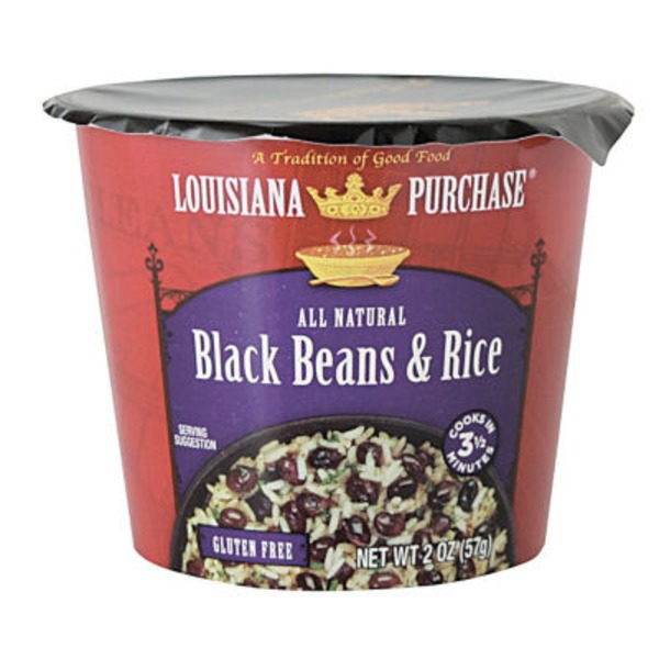 Louisiana Purchase Instant Black Beans & Rice Cup