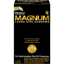 Trojan Magnum Lubricated Premium Latex Condoms Large