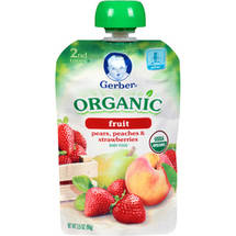 Gerber Organic 2nd Foods Pears Peaches & Strawberries Baby Food