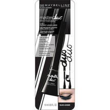 Maybelline Master Duo Eye Studio Glossy 2-in-1 Liquid Liner Black Lacquer