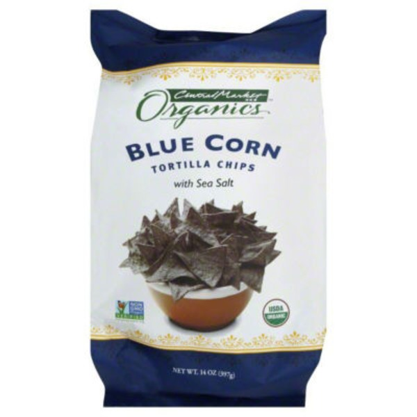 Central Market Organics. Blue Corn Tortilla Chips With Sea Salt