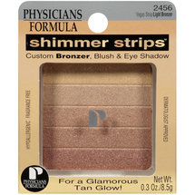 Physicians Formula Shimmer Strips Custom Bronzer Blush and Eye Shadow Vegas Strip/Light 2456