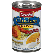 Campbell's Made With Real Chicken Stock & Seasoned With Black Pepper Chicken Gravy