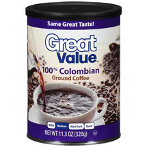 Great Value 100% Colombian Medium Roast Ground Coffee
