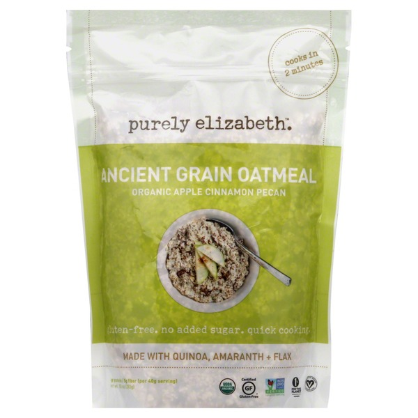 Purely Elizabeth Organic Ancient Grain Apple Cinnamon Pecan Oatmeal