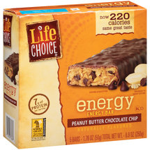 Life Choice Energy Peanut Butter Chocolate Chip Energy Bars