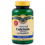 Spring Valley Calcium Dietary Supplement With Vitamin D 600mg