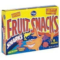 Kroger Sharks Fruit Flavored Snacks