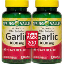 Spring Valley Odorless Garlic Herbal Supplement Softgels