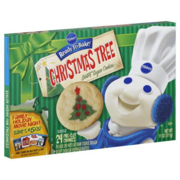 Central Market Pillsbury Ready To Bake Christmas Tree Shape Sugar