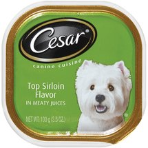 Cesar w/Top Sirloin Flavor In Meaty Juices Canine Cuisine