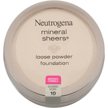 Neutrogena Mineral Sheers Loose Powder Foundation 10 Classic Ivory