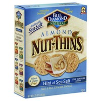 Blue Diamond Almond Nut-Thins Hint of Sea Salt Nut & Rice Cracker Snacks