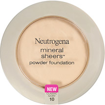 Neutrogena Mineral Sheers Compact Powder Foundation SPF20 .34 oz Classic Ivory 10