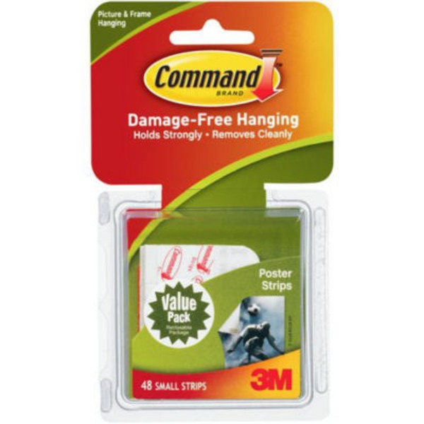 3M Command White Poster Strips Value Pack