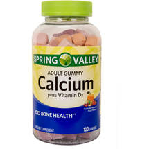 Spring Valley Calcium with Vitamin D3 Adult Gummies Dietary Supplement