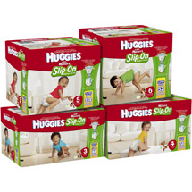 Huggies Little Movers Slip-On Diaper Pants Size 3