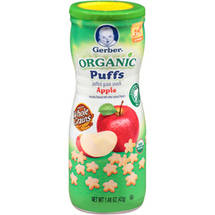 Gerber Organic Puffs Apple Puffed Grain Snack