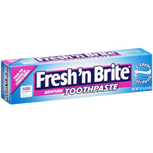 Fresh 'n Brite 2-Layer Gel Paste Denture Toothpaste
