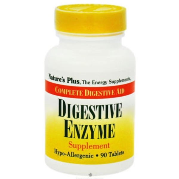 Nature's Plus Digestive Enzyme Supplement Tablets