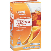 Great Value Decaffeinated Iced Tea With Peach Drink Mix