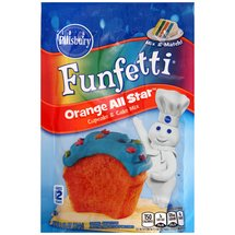 Pillsbury Funfetti Orange All Star Cupcake & Cake Mix