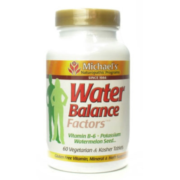 Michael's Naturopathic Programs Water Balance Factors with Vitamin B-6, Potassium & Watermelon Seed Tablets