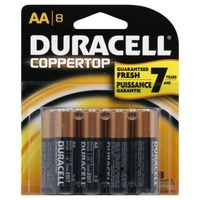 Duracell Coppertop AA Alkaline Batteries 8 count Primary Major Cells