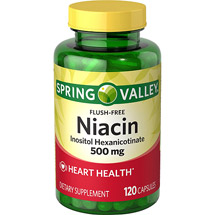 Spring Valley Flush-Free Niacin Capsules
