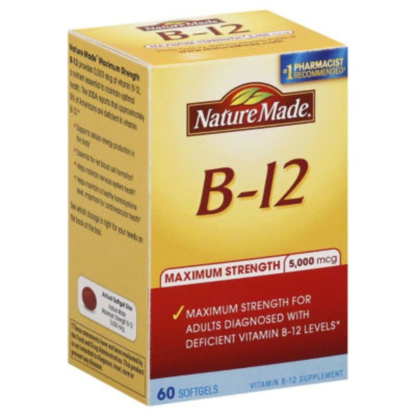 Nature Made B-12 Maximum Strength Softgels - 60 CT
