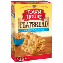 Keebler Town House Flatbread Crisps Sea Salt & Olive Oil Crackers