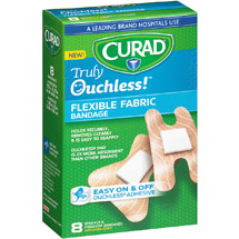 Curad Truly Ouchless!(tm) Knuckle & Fingertip Flexible Fabric Bandages